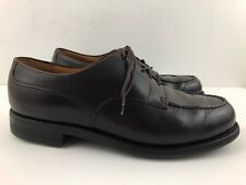 JM Weston Brown Leather Golf Derby Shoes - Goodyear Welted Soles Size US 9 E