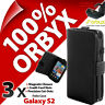 3 X Orbyx Étui Folio pour Samsung I9100 Galaxy S2 Porte-Feuille Housse