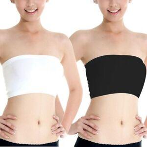 Female Strapless Boob Tube Top Bandeau Bra Modal Ladies Modal Stomacher Wrapped