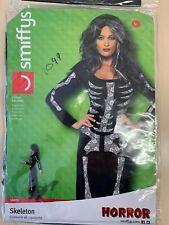 Smiffys Adult Women Skeleton Costume Long Sleeved Tube Dress Large