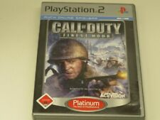 !!! PLAYSTATION PS2 SPIEL Call of Duty Finest Hour PLAT USK18 TOP !!!