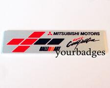 Nuevo Aluminio Cepillado Mitsubishi Motors Ralliart espíritu de competencia coche insignia
