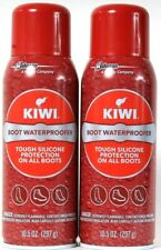 2 Cans Kiwi 10.5 Oz Tough Silicone On All Boots Waterproofer Spray