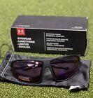 Under Armour UA Strive Wrap Sunglasses Satin Black Frame Golf Tuned New #79783