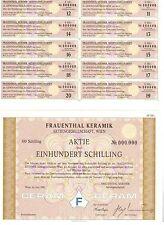 Frauenthal Keramik AG Wien  1991   100 Schilling  CERAM