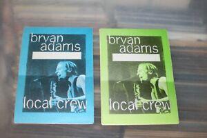 Bryan Adams -  2x Backstage Pass - FREE POSTAGE - Lot # 03