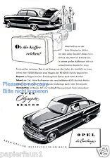 Opel Olympia Rekord Reklame von 1954 Koffer Kofferraum Werbung ad ßß