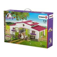 Schleich - Riding Centre with Rider and Horses Figurine - 42344