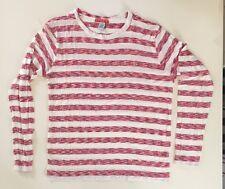 POV Men's Long Sleeve Striped Crewneck Tee Size XL Style # DV857
