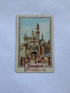 Vintage Disneyland Playing Swap Card, Castle, Retro, Disney 60s Or 70s