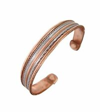 Ladies Magnetic Rose Gold Tone Copper Torque Bangle-Bracelet Pain Relief
