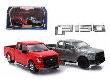 2015 Ford F-150 Pickup Trucks 2 Cars Set 1:64 Diecast Models - 29828