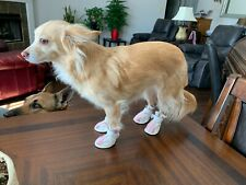 AGL Brand Pink and White Sneakers for Dogs Size 4