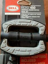NEW BELL Kicks 450 Universal Bike Pedal Set Adapters Provided 1/2 and 9/16 inch