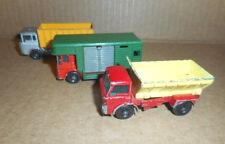 Vintage Matchbox Truck Lot No 17 Horse Box + Two More