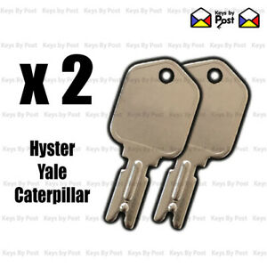2 x Hyster Key Caterpillar Yale Fork Lift Truck Replacement / Spare Code 166