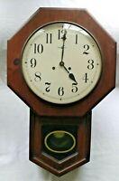 HOWARD MILLER Wall Clock Model 612-435. No. 136 Key Wind Gong- Parts or Repair