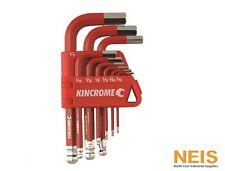 Kincrome Imperial Hex Key Wrench Set 9pc Short Series Hardened Steel P/n K5142