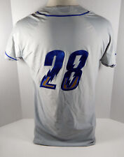 2019 Omaha Storm Chasers Glenn Sparkman #28 Game Used Grey Jersey