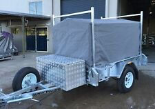 7 X 5 900MM CANVAS COVER FOR TRAILER CAGE NEW