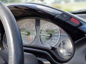 Honda Civic Crx Del Sol 92-98   Dash Instrument Chrome Rings Polished Aluminium