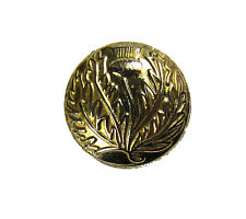 Button Thistle Gold 25mm Medium Pack of 6 R1498