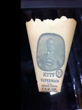 VINTAGE 1950'S SUPERMAN TV SHOW KELLOGG'S PAPER COOLER WATER CUP! GEORGE REEVES