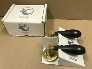 Turnstyle Designs Plain Black / Gold Door Handles Levers Set 1530BB/SB