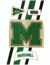Marshall TB Football Helmet Decals Free Shipping