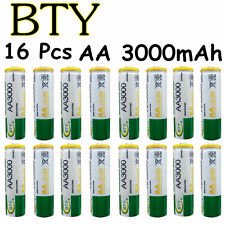 16 pcs AA LR06 3000mAh 1.2V Rechargeable NI-MH battery CELL RC Toy BTY Green