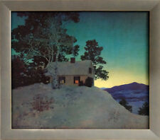 Maxfield Parrish Dusk Custom Framed Canvas Transfer    21 x 24 Classic Frame
