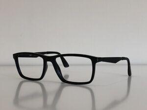 Ray Ban RB 7056 2000 Rectangle Black Eyeglasses Frame Only 55-17-145