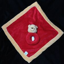 Disney Baby Pooh Winnie The Pooh Red Yellow Security Blanket Lovey Rattle