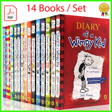 Diary Of A Wimpy Kid Collection 14 books Set By Jeff Kinney P.DF books Hardcover