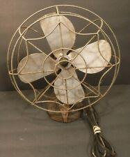 "Vintage Mastercraft 10"" Metal Table Top Oscillating Fan Works"