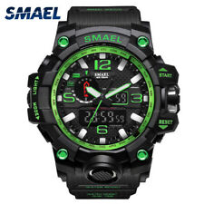 SMAEL Dual Time Waterproof Sports Military Men's Analog Quartz Digital Watches