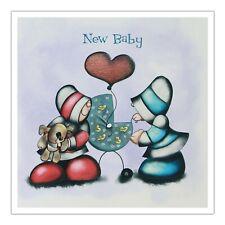 Santoro Hoodies Greeting Card - New Baby - Pram - Sg-Hd-003