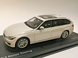 1:18 scale die cast model BMW 3 Series Touring Wagon by Paragon (Mineral White)