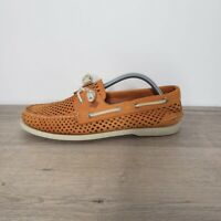 Sperry Top-Sider Orange A/O 2-Eye Laser Perforated Boat Shoes Mens Size 10.5