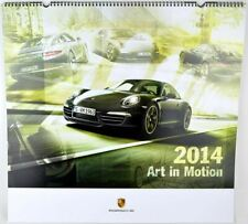 "Porsche Kalender 2014 ""Art in Motion"" Porsche 918 Spyder inkl. Medaille - OVP"
