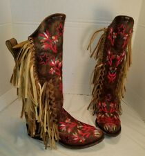 FREE PEOPLE MEXICANA CROSS TRAIN WESTERN LEATHER BOOTS US 7 EUR 37 MSRP $798.00