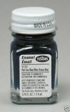 New testors 1/4 oz flat sea blue enamel paint #1172 (ref#46)