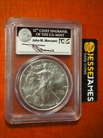 2011 W BURNISHED SILVER EAGLE PCGS MS70 MERCANTI FIRST STRIKE FROM 25TH ANN SET