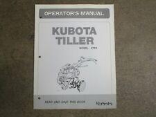 Kubota At55 At 55 Roto Rotary Tiller Owners Amp Maintenance Manual