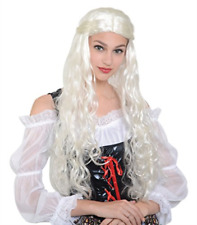 MEDIEVAL LADY WIG LONG BLONDE COST-AC NEW