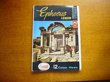 Postcard Photo Packet 12 Scenes Ephesus Izmir Souvenir Pull-out Album Turkey