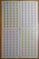 50 x Bund 1225 - 1228 postfrisch Luxus Bogen Satz Orchideen Michel 300 € BRD FN