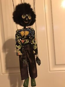Rare Vintage Pelham Puppet - SS ****** (BLACK BOY) - Lead Hands. 1950's. Boxed.