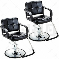 Hydraulic Set of 2 Barber Chair Salon Shampoo Hair Styling Beauty Spa Equipment
