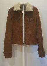 Abercrombie & Fitch JACKET Corduroy A & F COAT Brown WOMENS Sz XS